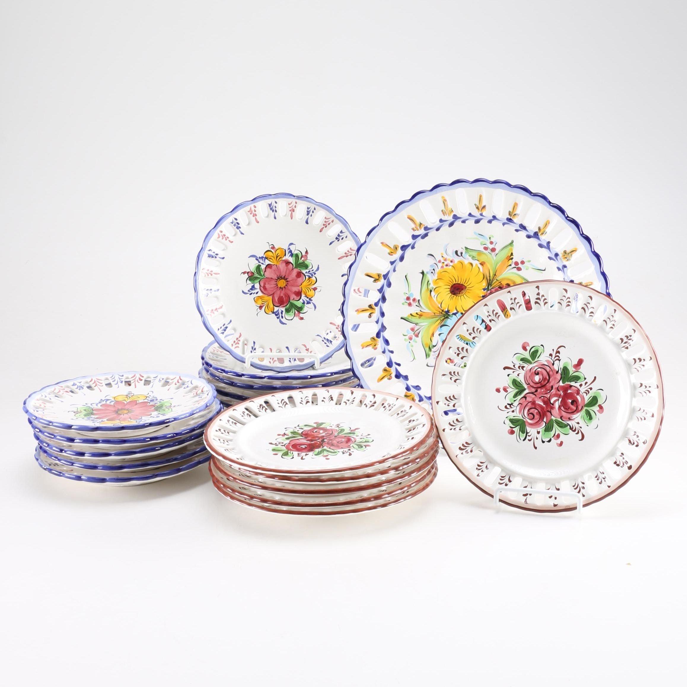 Hand-Painted Portuguese Plates ...  sc 1 st  EBTH.com & Hand-Painted Portuguese Plates : EBTH