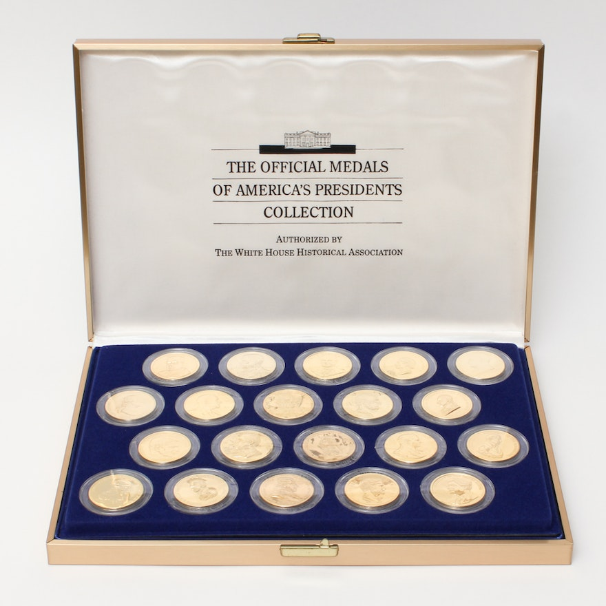 Set Of The Official Medals America S Presidents Ebth