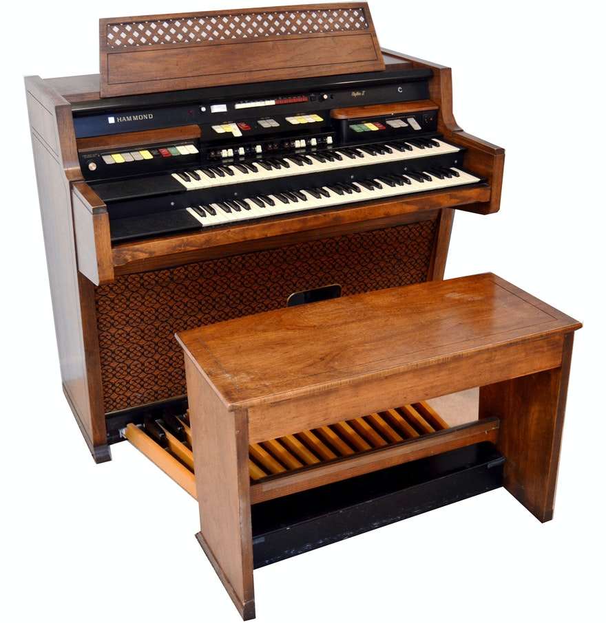 vintage hammond rhythm ii organ with bench ebth