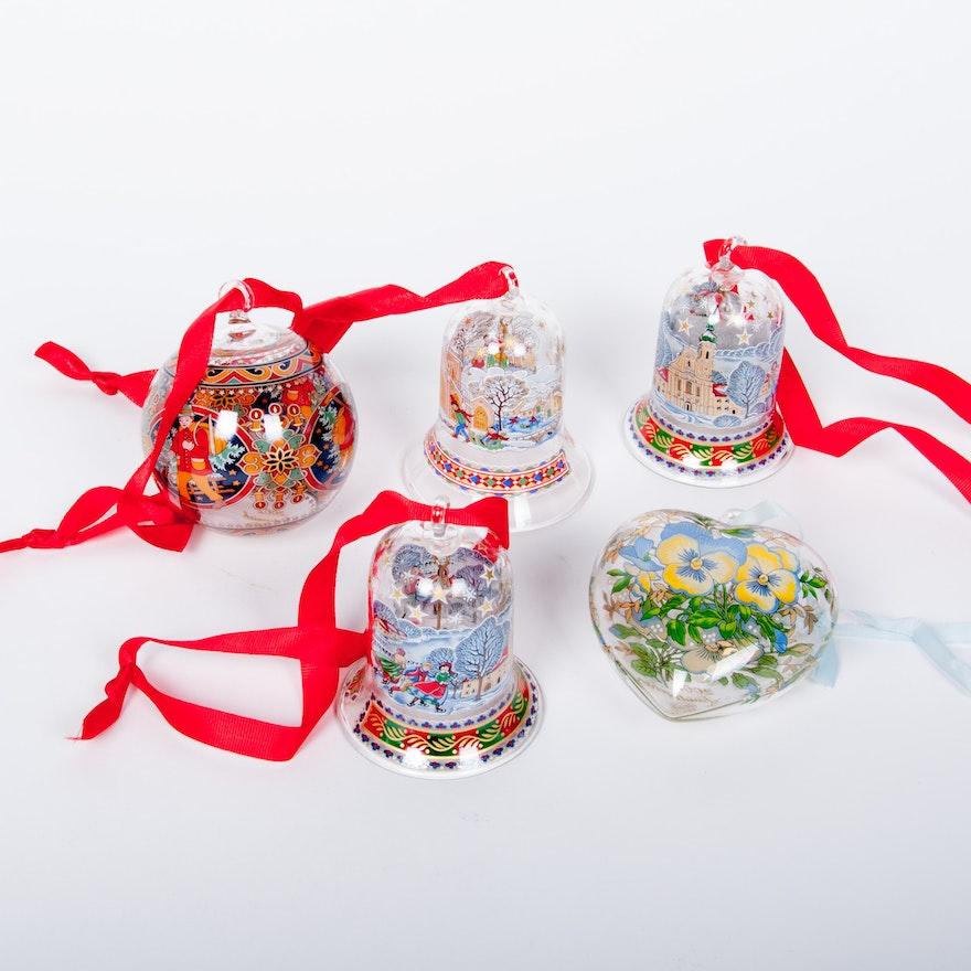 hutschenreuther german glass christmas ornaments