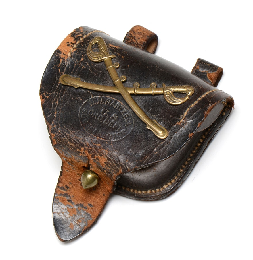 Civil War Era Leather Percussion Cap Box : EBTH