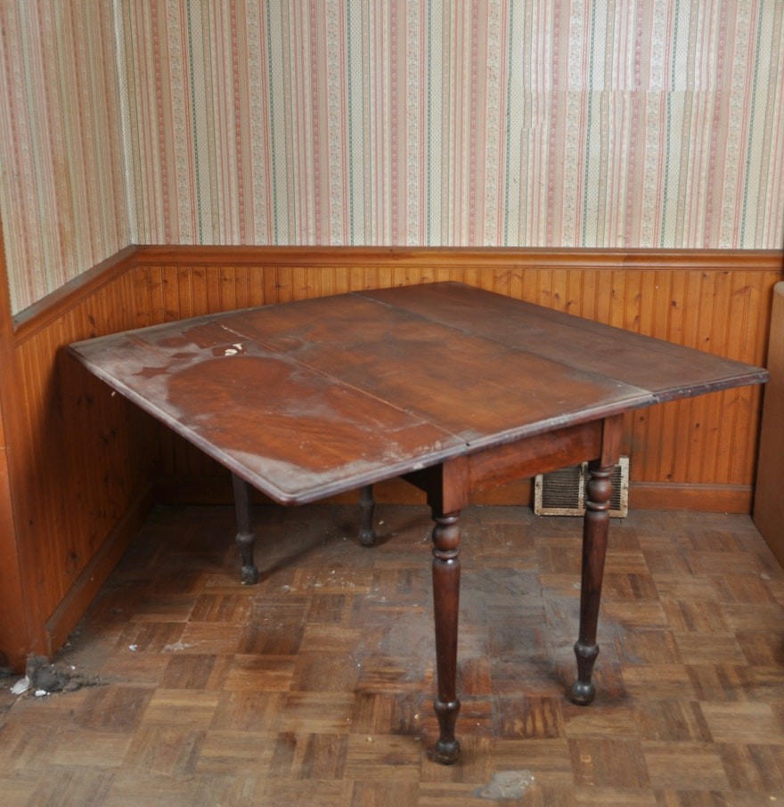 Antique Cherry Drop Leaf Dining Table : EBTH