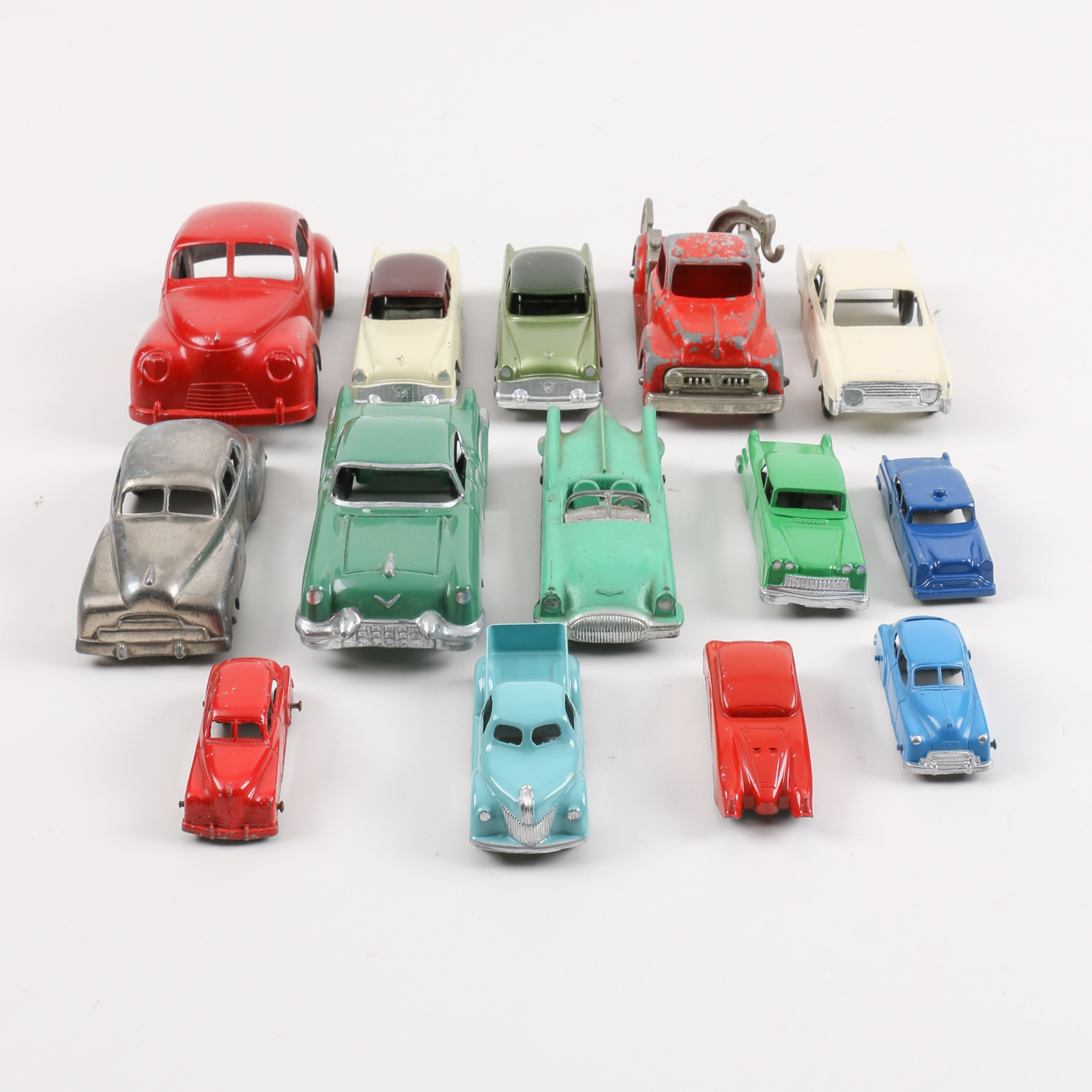 Collection of Smaller Pressed Steel Toy Cars
