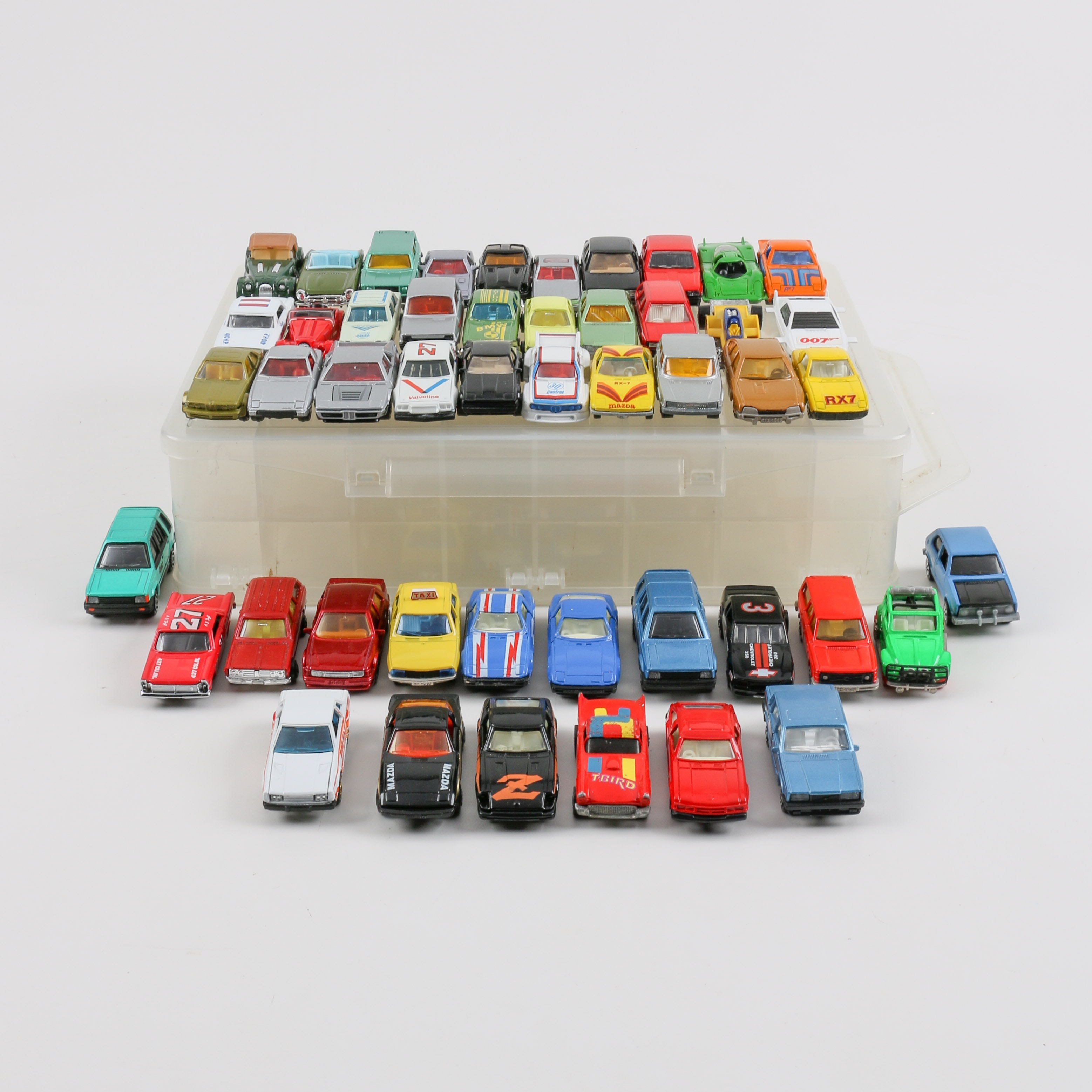 Forty-Eight 1:64 Scale Die-Cast Cars