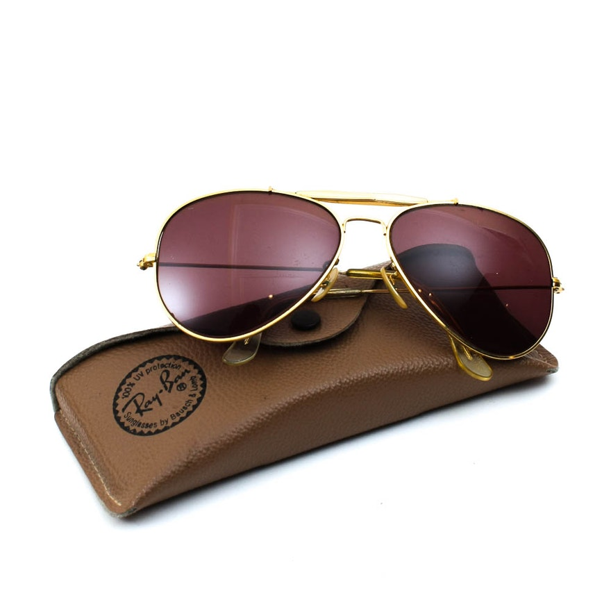 860656317c5 Vintage Bausch   Lomb Ray-Ban Aviator Bifocal Sunglasses 62014 from West  Germany   EBTH
