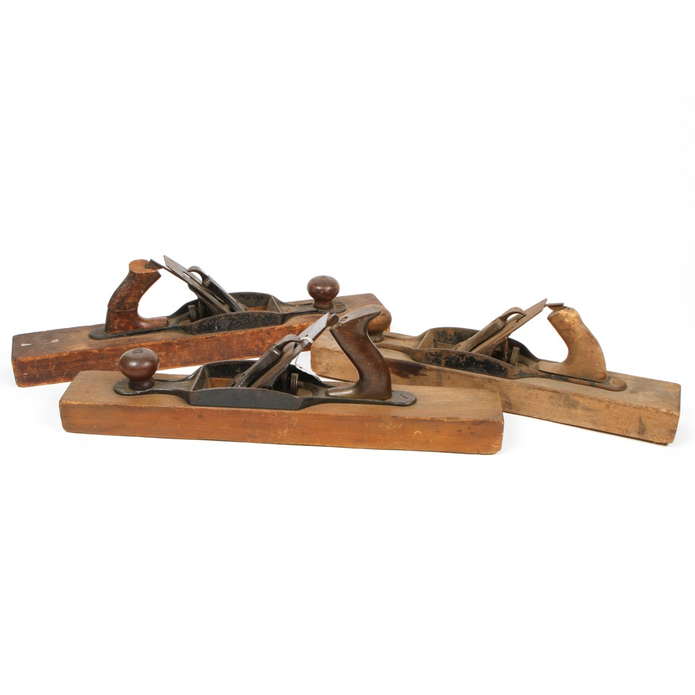 Collection of Antique Wood Planers