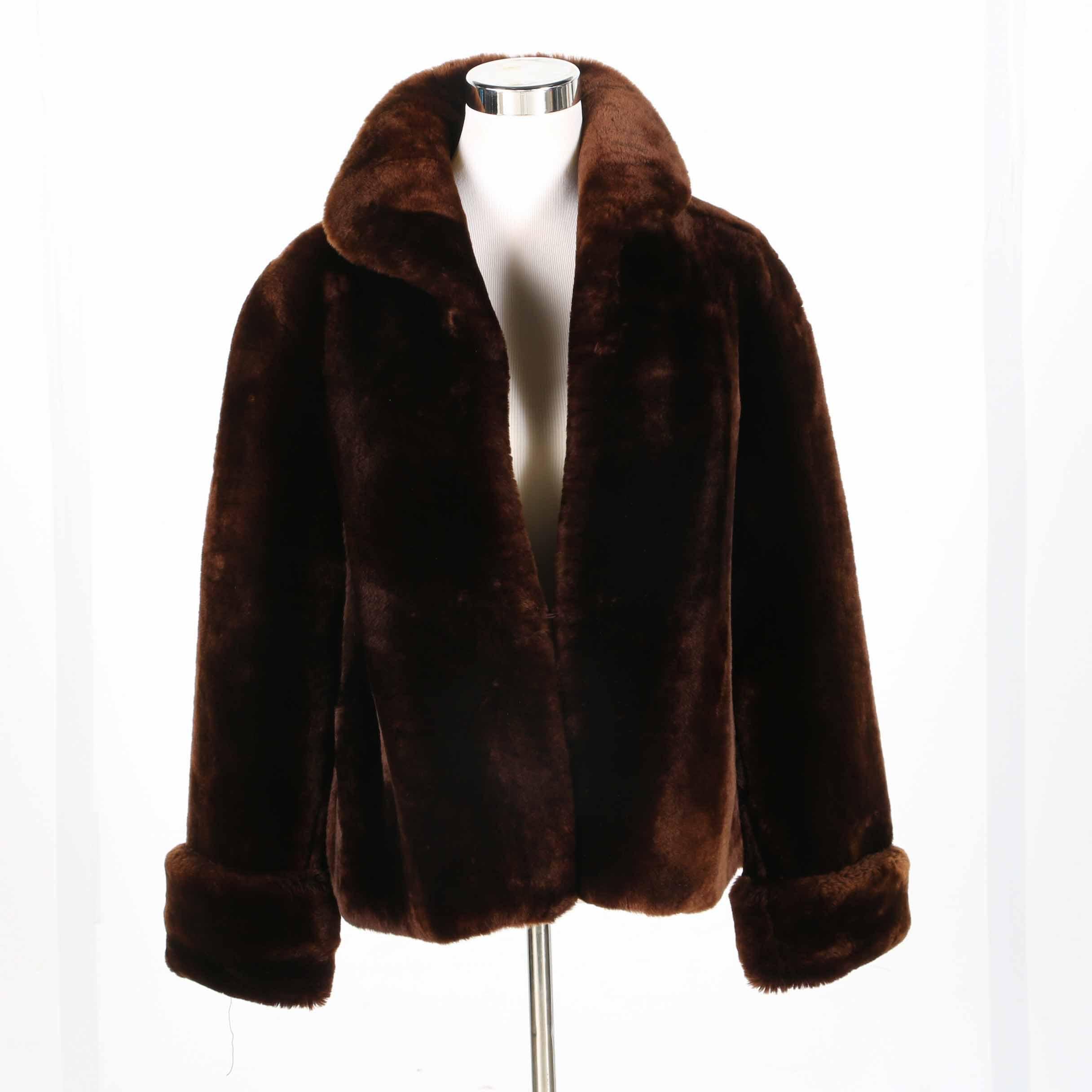 Vintage Union Made Faux Fur Coat