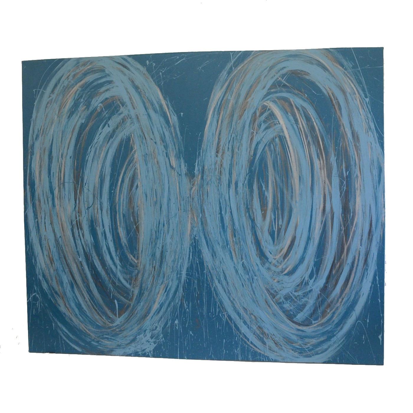 "Nicholas Barbieri Mixed Media Painting ""Funnel Tunnel"""