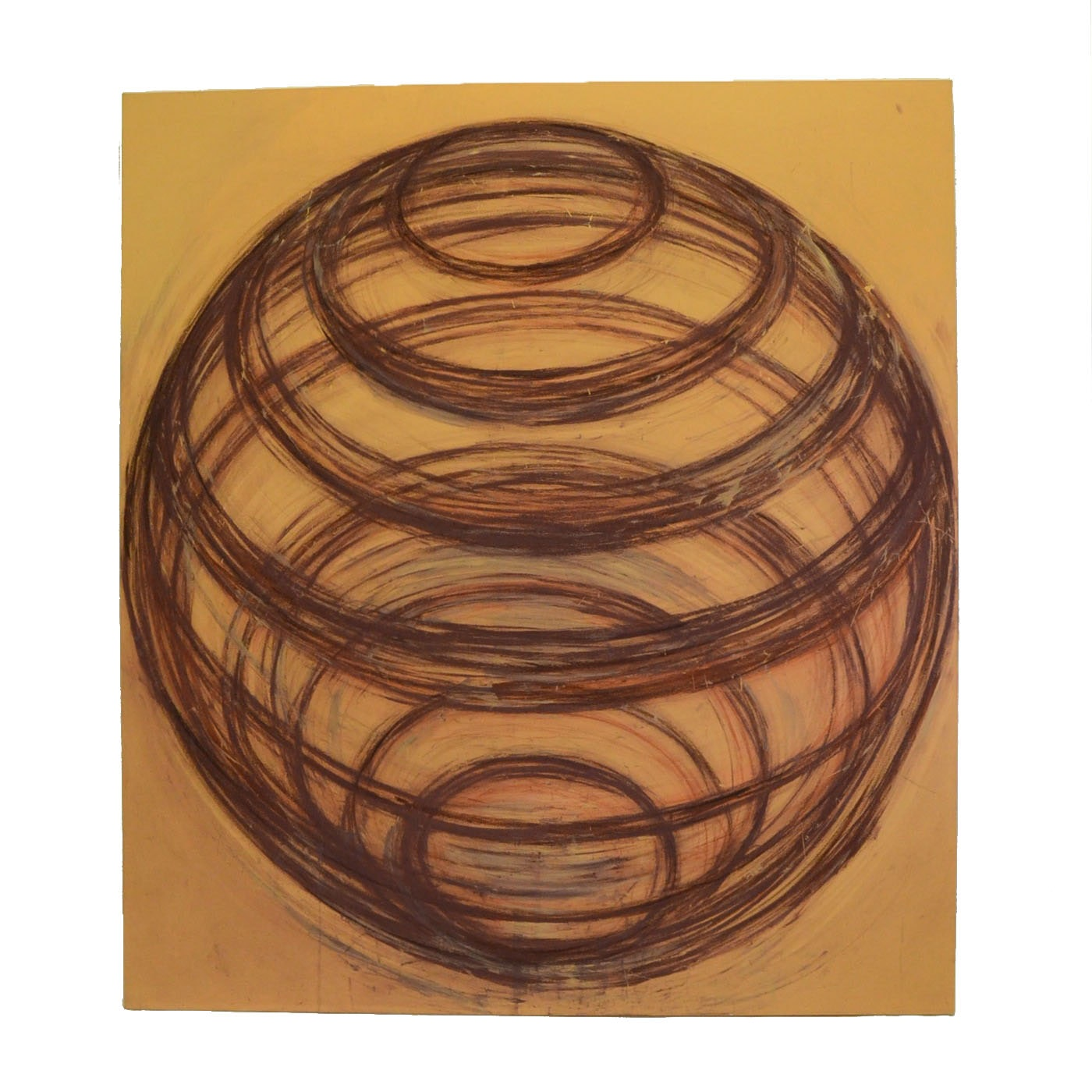 Nicholas Barbieri Mixed Media Painting of a Sphere