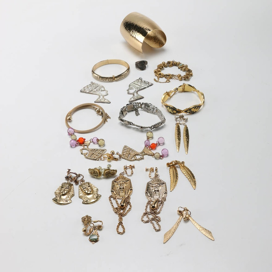 Ancient Egyptian Inspired Costume Jewelry