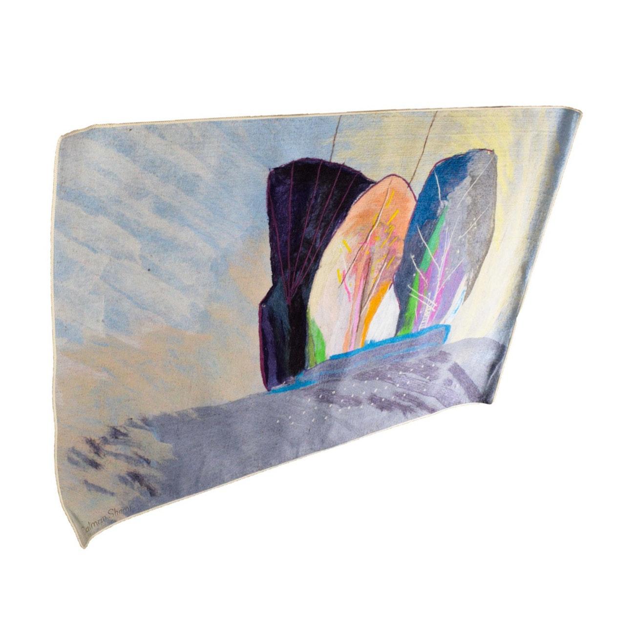 """Arboles Monumento"" #9 Signed Calman Shemi Textile"