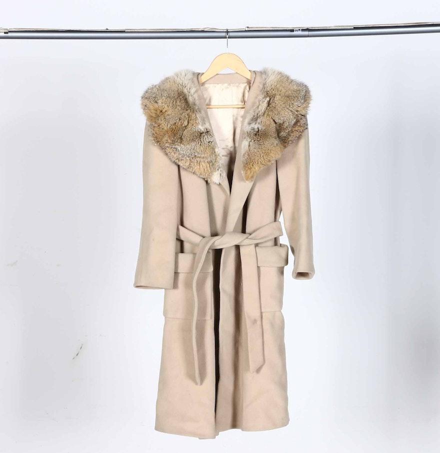 Vintage Coat With Fur Collar 79
