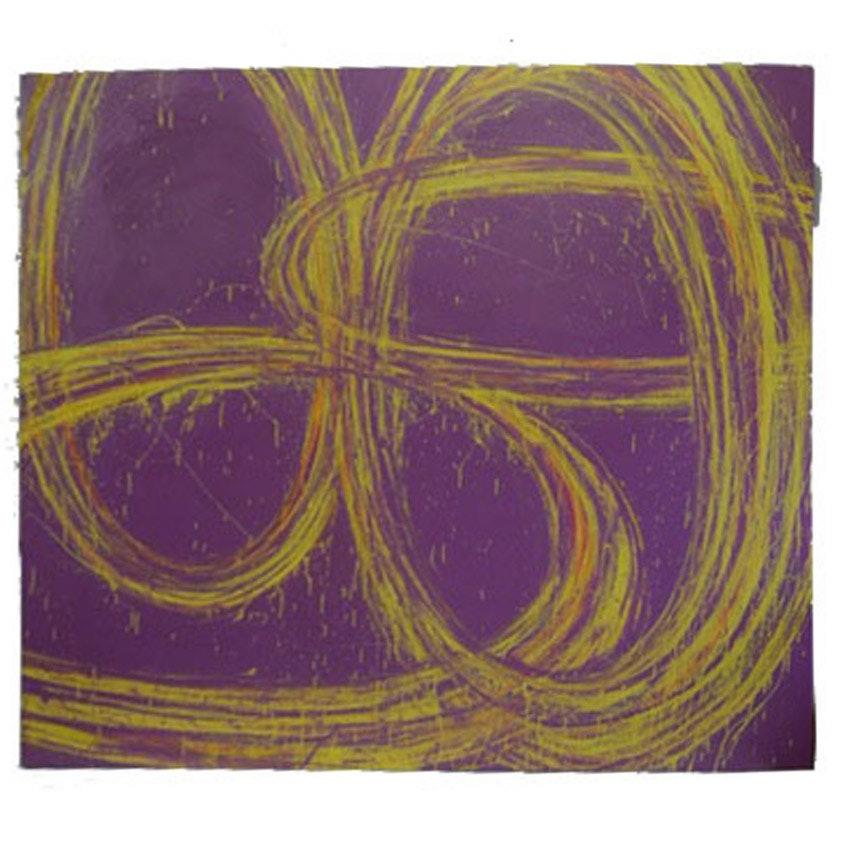 "Nicholas Barbieri Mixed Media Painting on Canvas ""Tiltawhirl"""