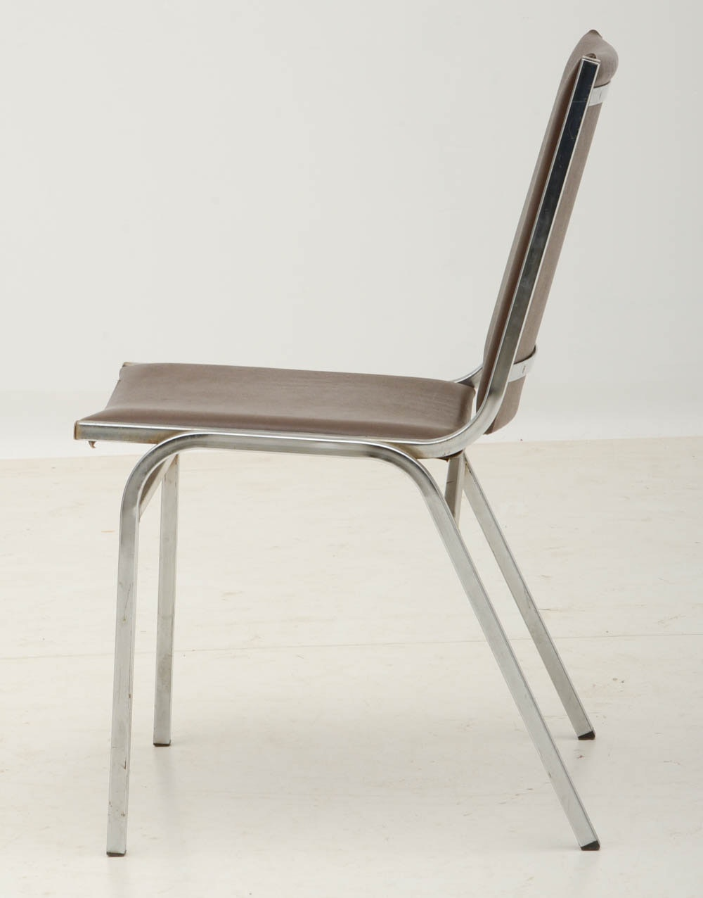 Set Of Five Metal Stacking Chairs EBTH