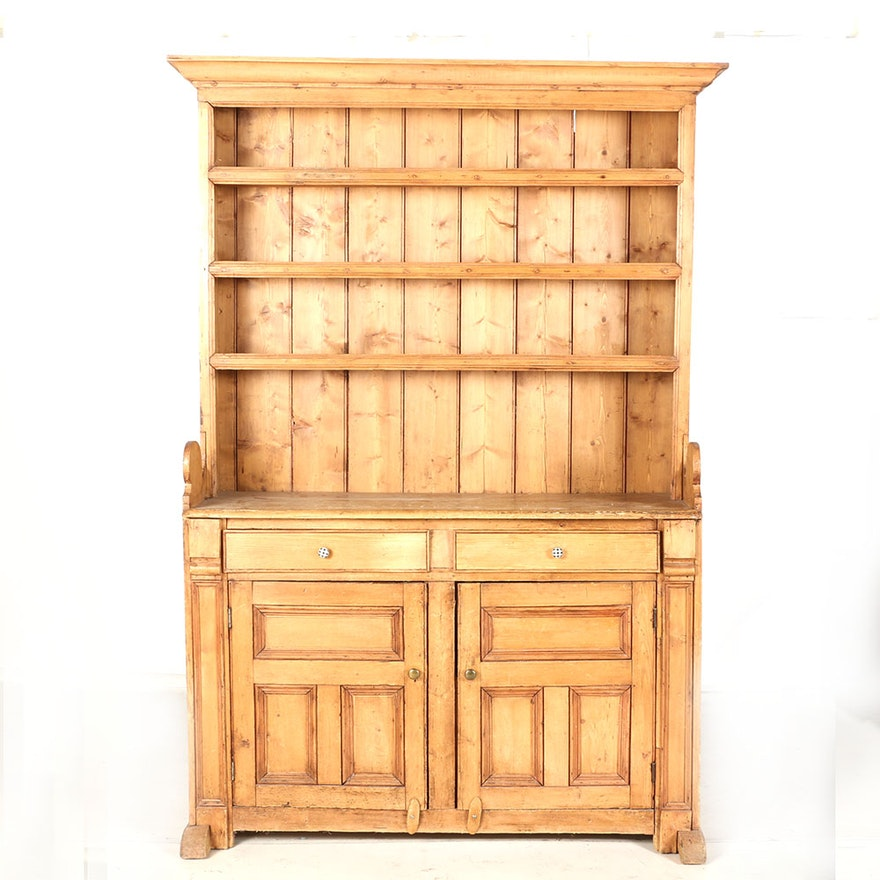 vintage hutch china il listing dining cabinet pine gizr room bennington