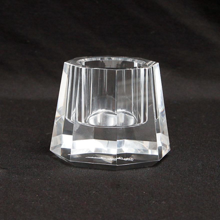 Oleg Cassini Crystal Candle Holder Ebth