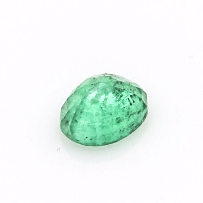 1.03 CTS Faceted Oval Emerald Gemstone