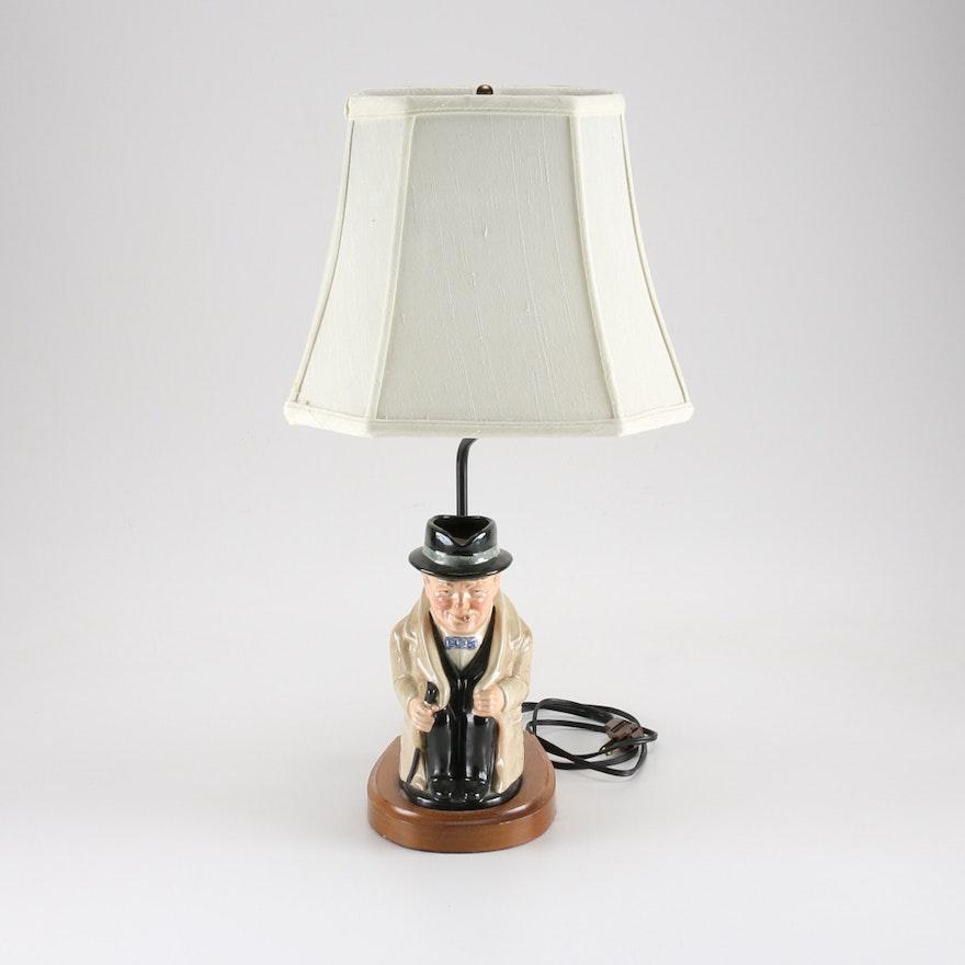 Winston Churchill Lamp With Shade Ebth