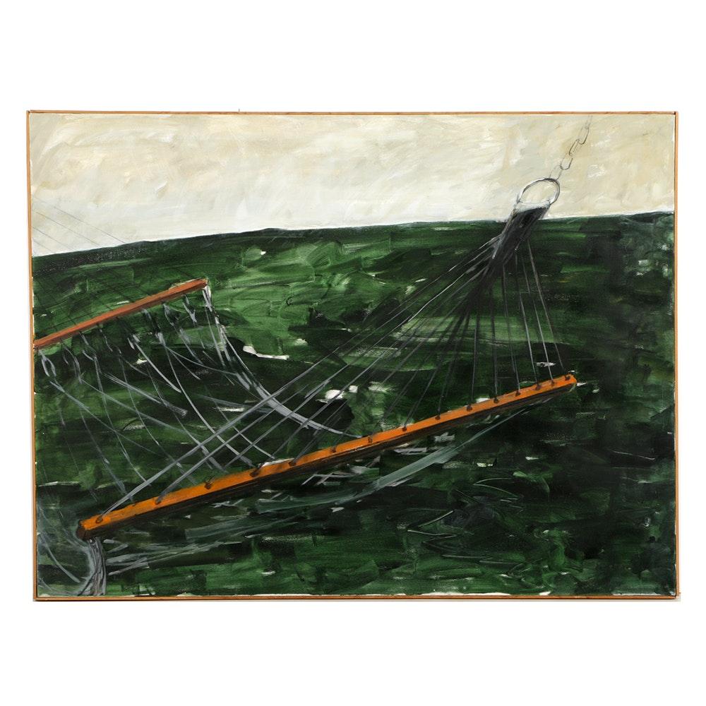 """Ann Sklarin Acrylic Painting on Canvas """"Hommack Series"""""""