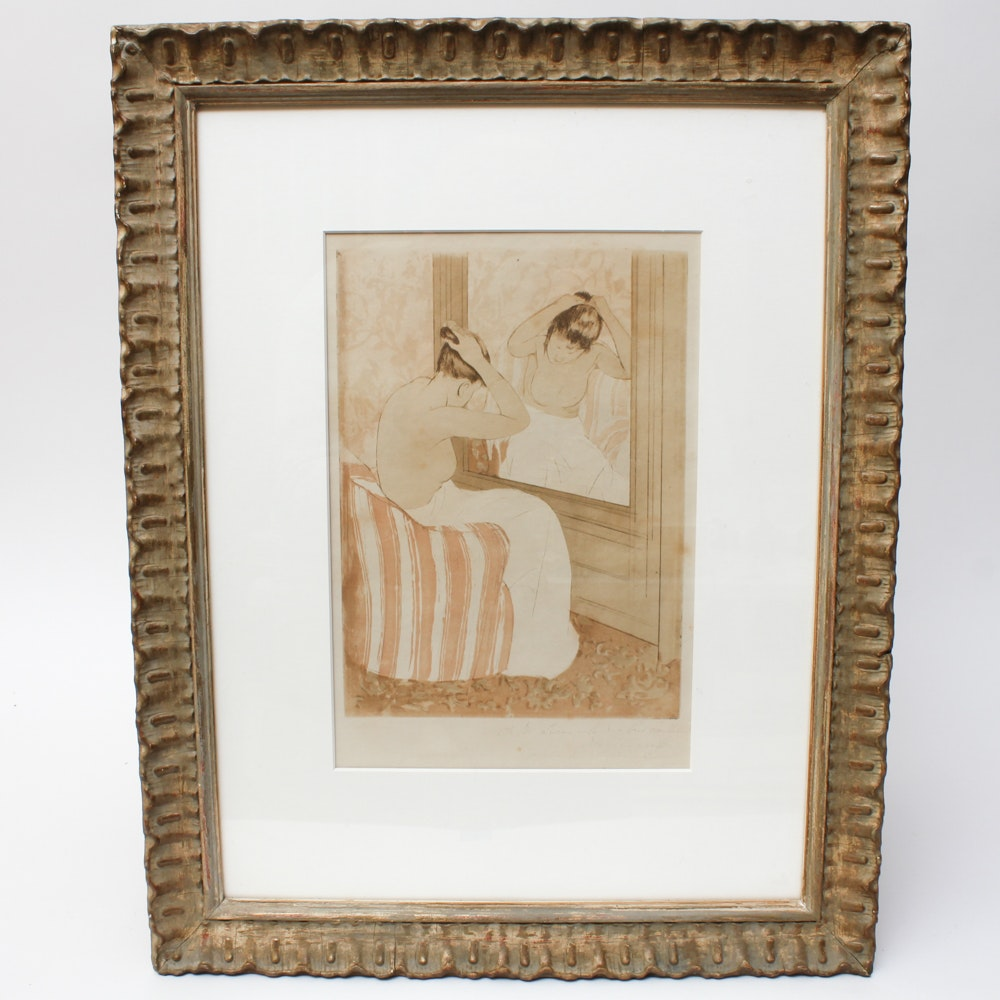 mary cassatt etching and drypoint