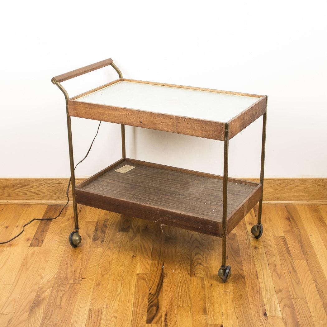Vintage Salton Hotray Warming Cart