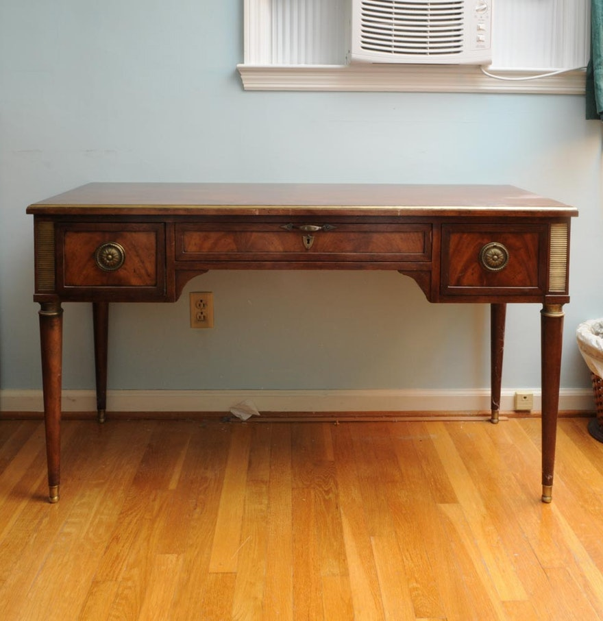 Neoclassical Style Desk By Baker Furniture Ebth
