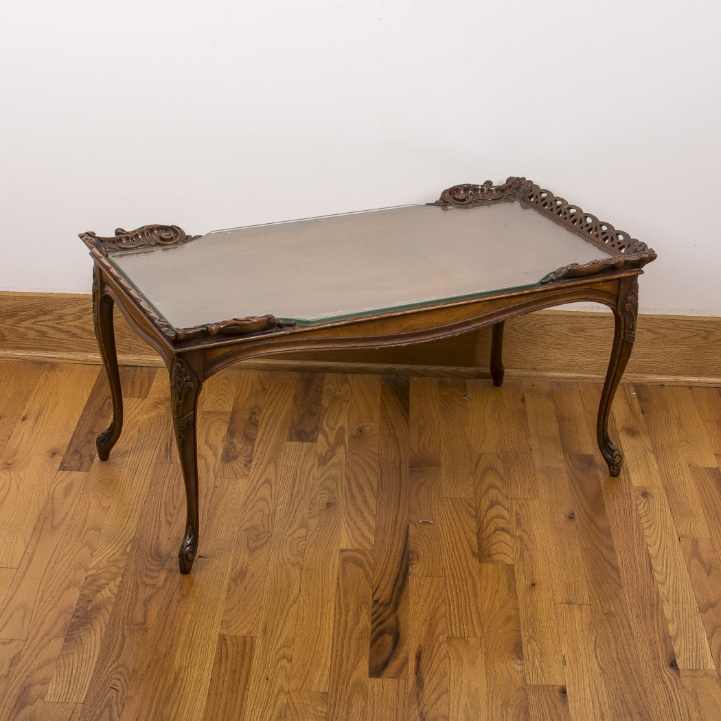 Rococo Style Walnut  Coffee Table