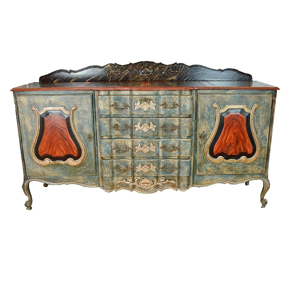 Hand Painted Buffet Cabinet ...