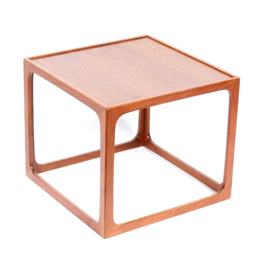 Vintage Danish Modern Teak Side Table By Br Gelsted