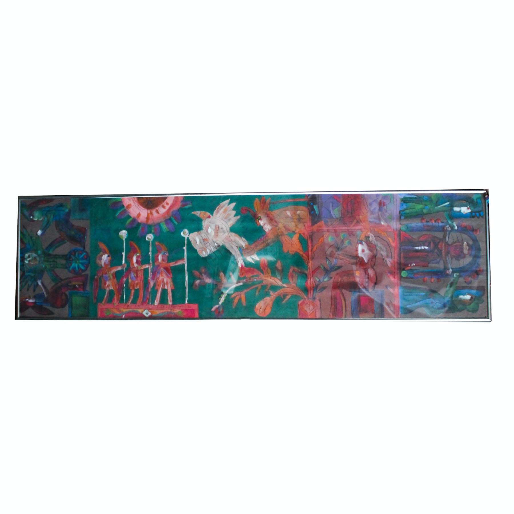 Norman Laliberte Very Large Original Acrylic Painting