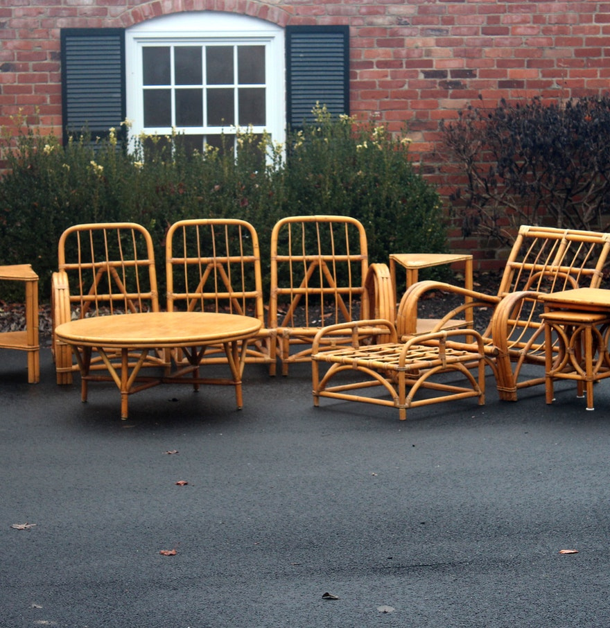 vintage rattan patio furniture ebth