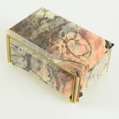 Russian Gemstone Jewelry Box
