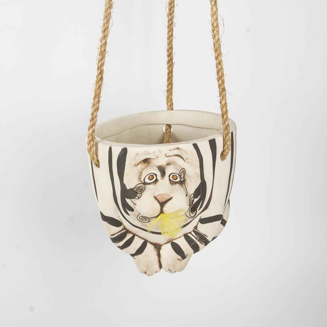 Tiger-themed Hanging Planter