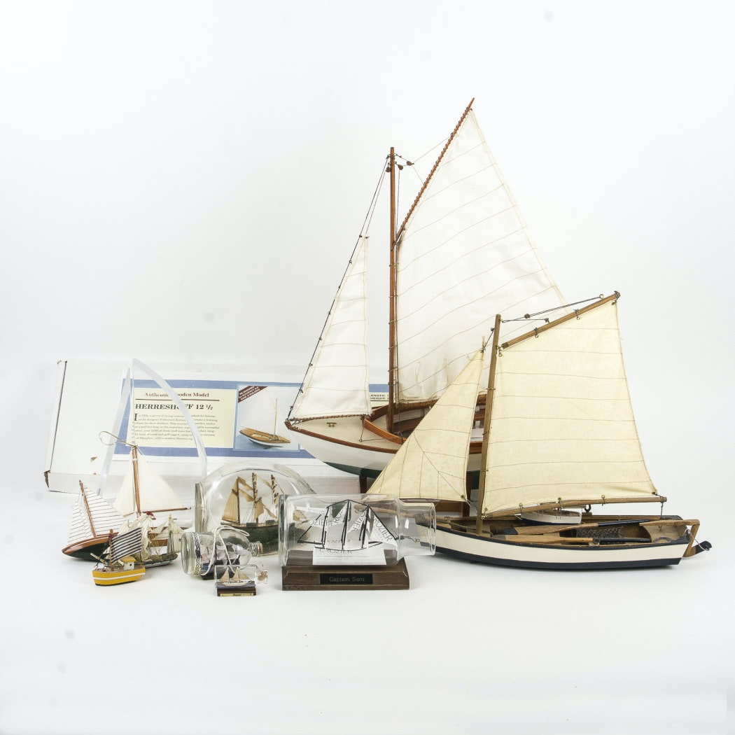 Model Sailboats and Ships