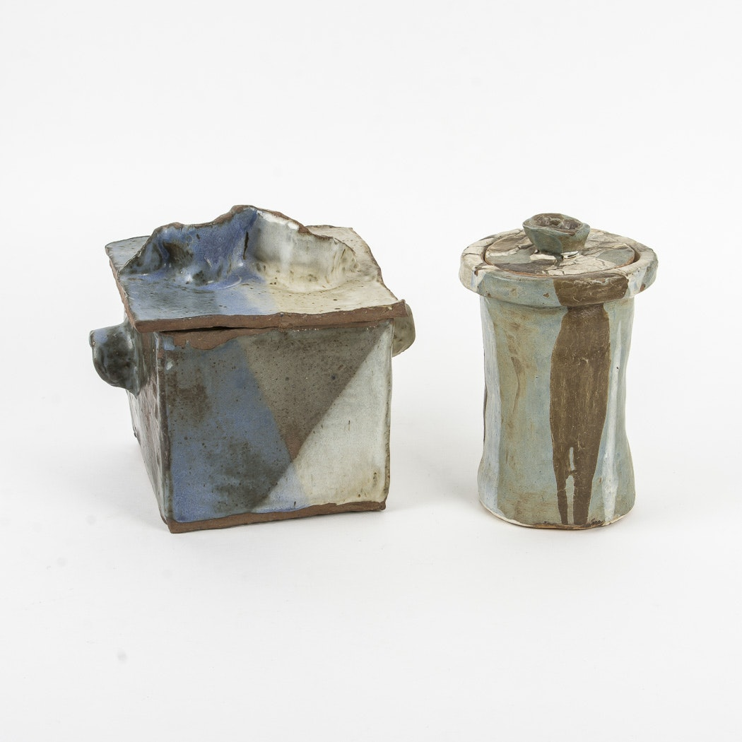 Pair of Pottery Boxes