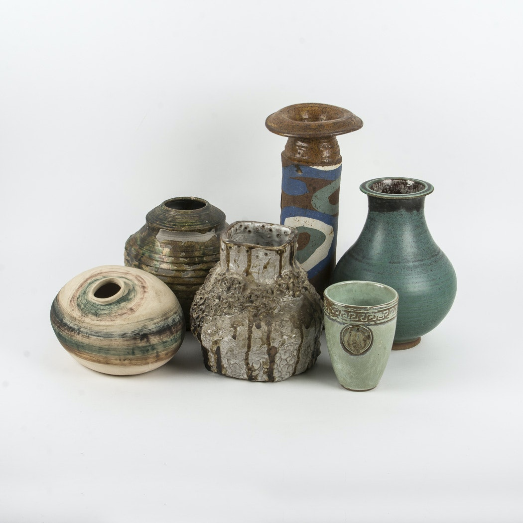 Group of Pottery Vases