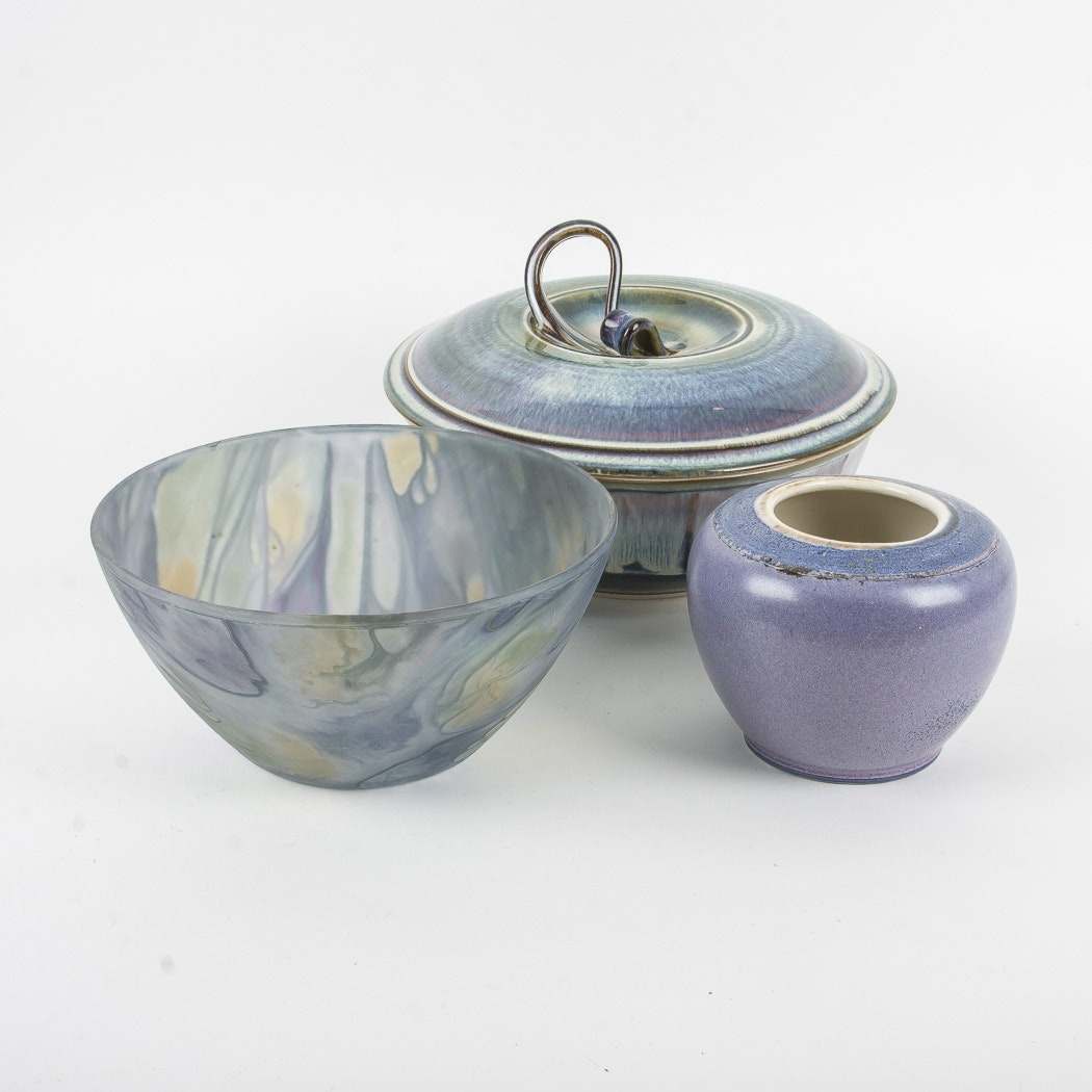 Group of Pottery and Glass Bowls