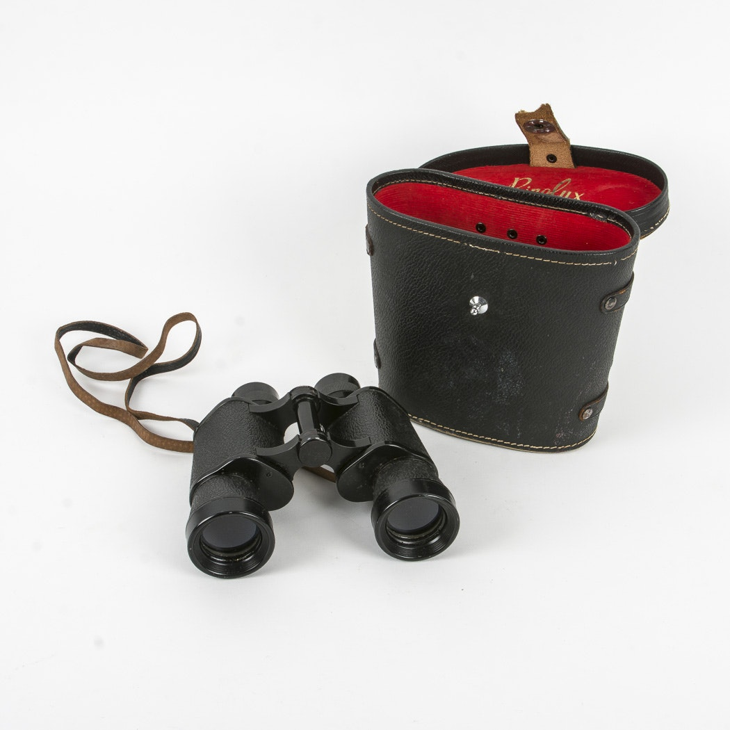 Vintage Binolux Binoculars and Case