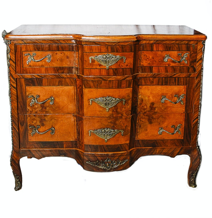 vintage louis xv xvi style transitional commode ebth. Black Bedroom Furniture Sets. Home Design Ideas