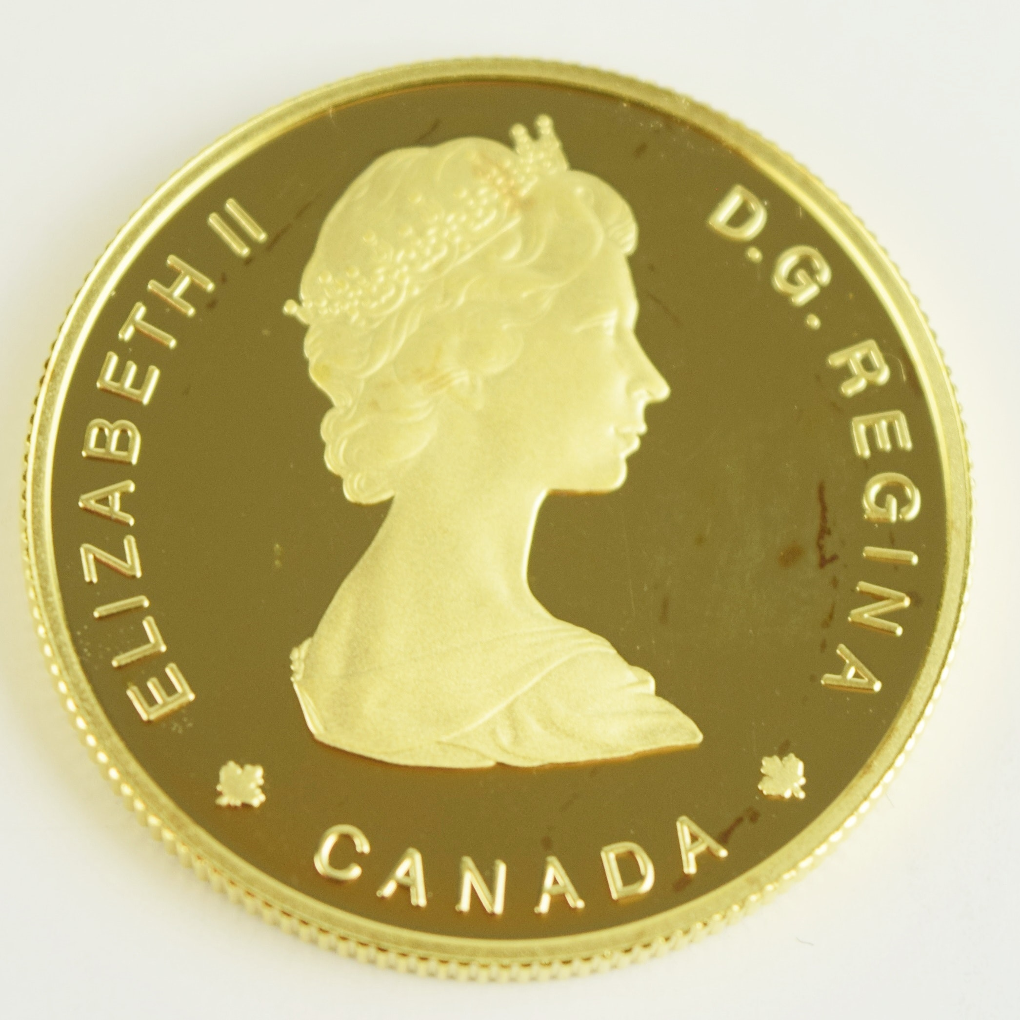 1985 Royal Canadian Mint $100 22K Gold National Parks Proof Coin