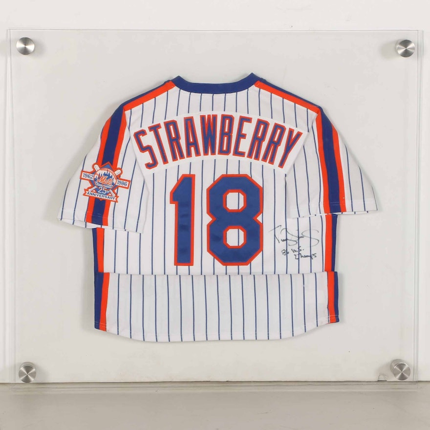huge selection of 7b9f3 2d61a 1986 New York Mets Darryl Strawberry Signed Jersey