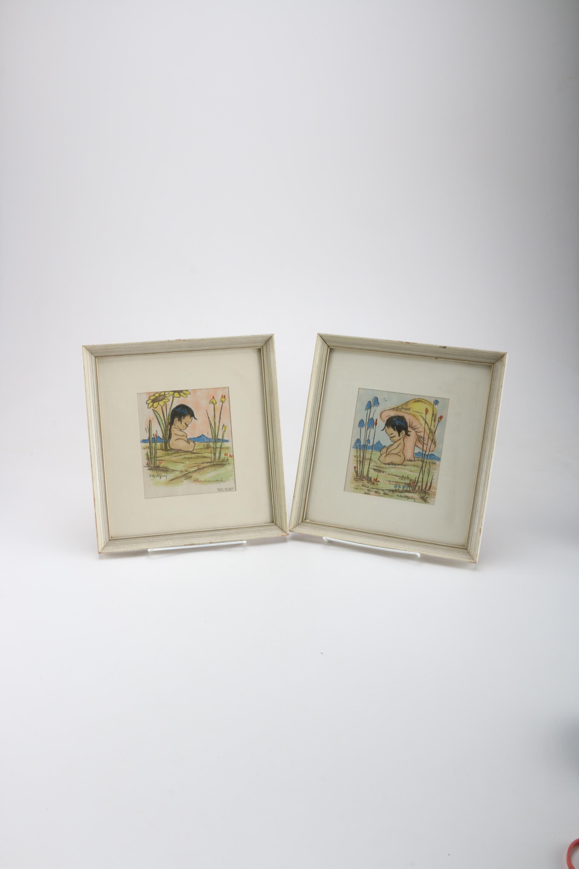 Chris Topperson Framed Offset Lithographs of Children