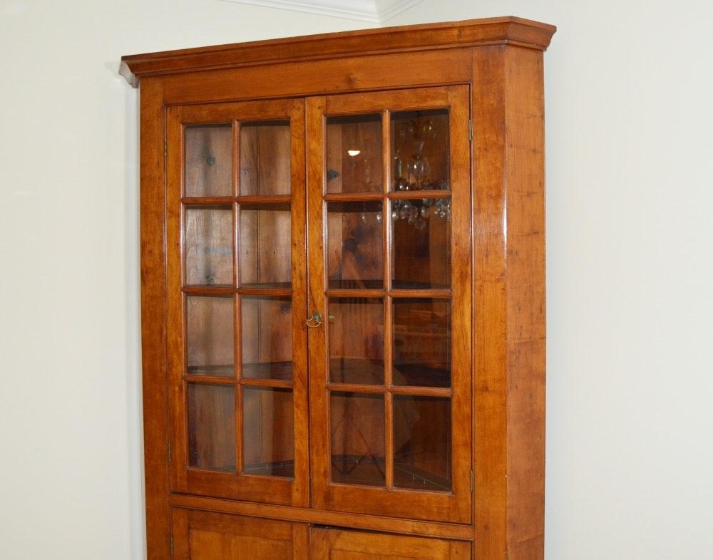 Circa 1840 Cherry Corner Cupboard