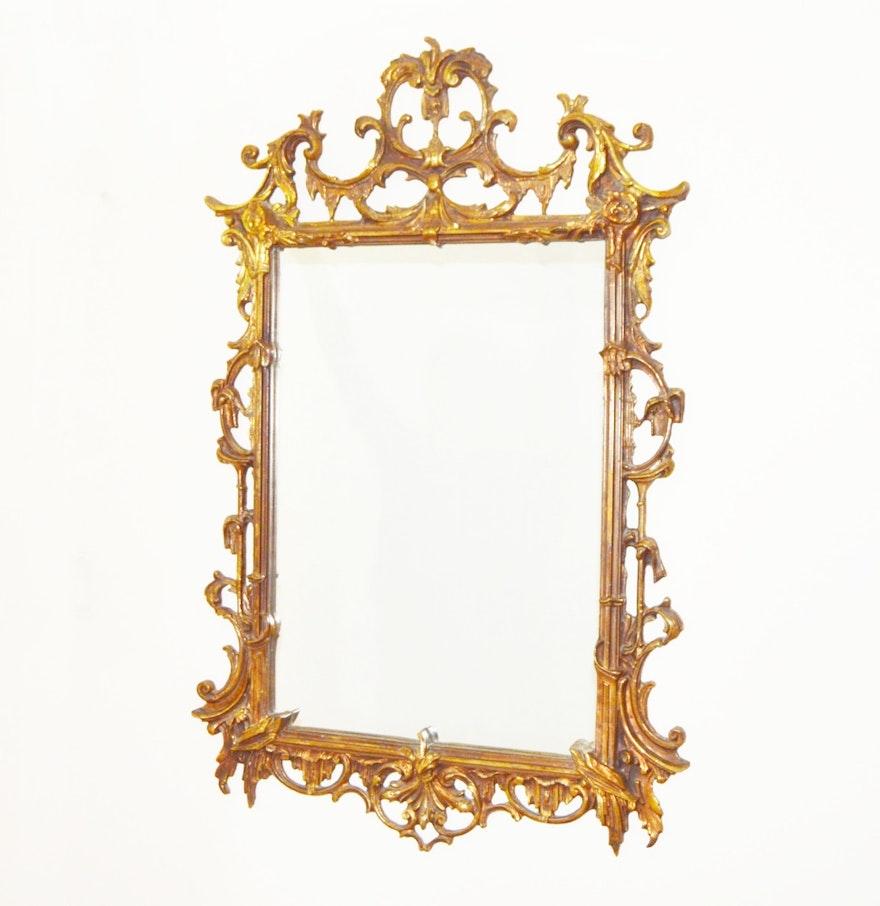 Vintage rococo style wall mirror ebth for Baroque style wall mirror
