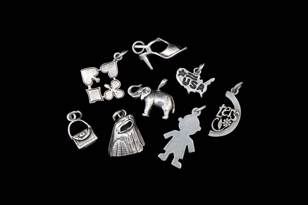 Assortment of Sterling Silver Charms