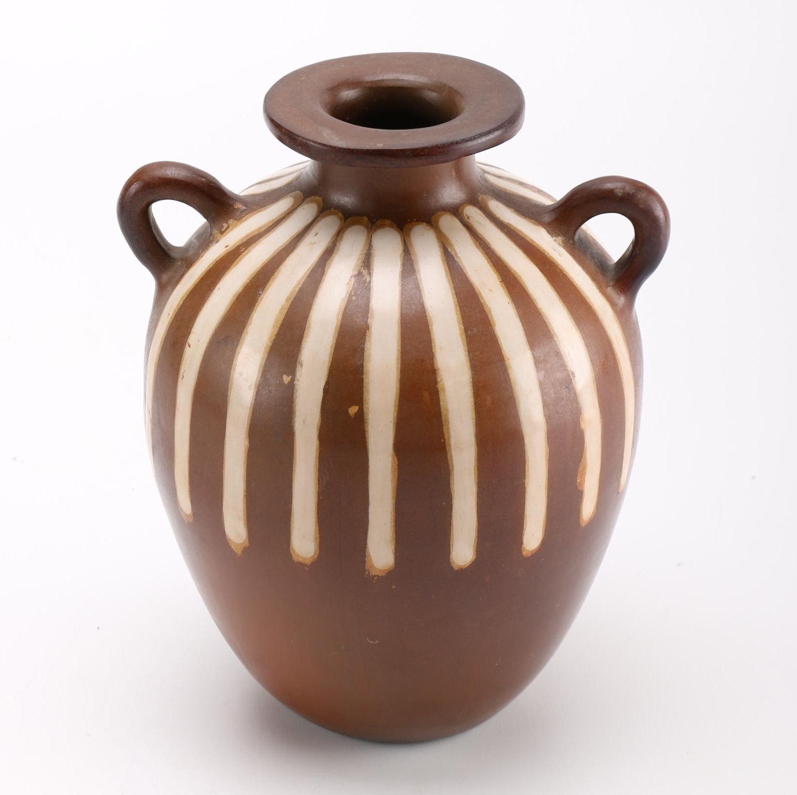 Peruvian Hand-Painted Vase