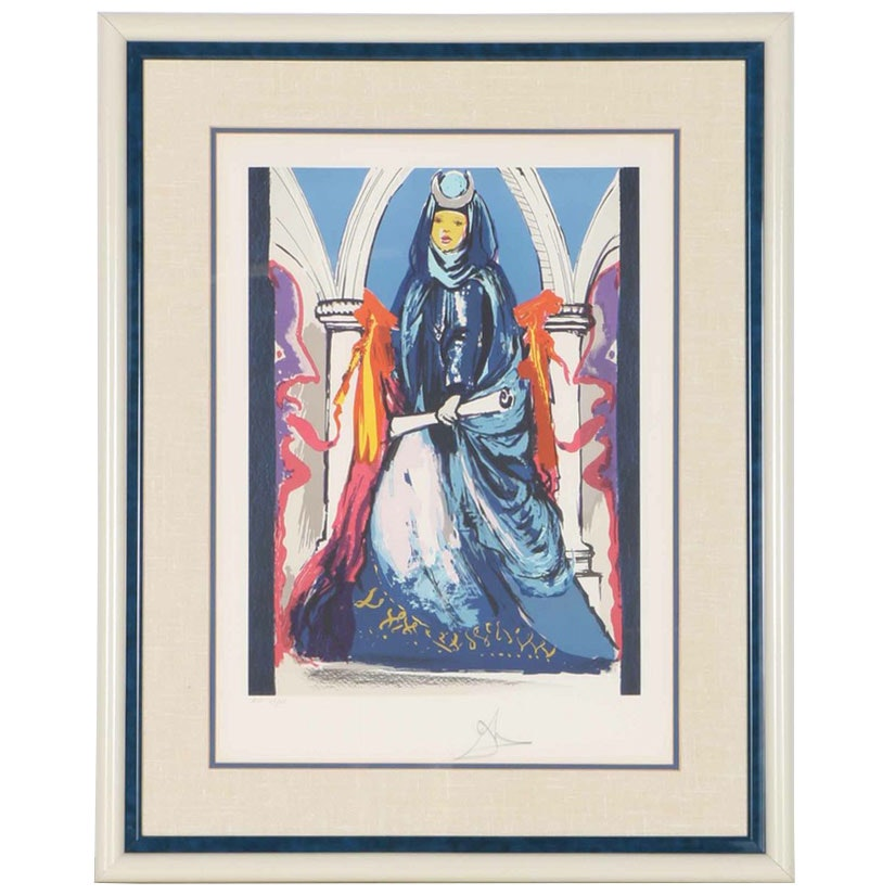 "Salvador Dali Limited Edition Lithograph ""The High Priestess"""