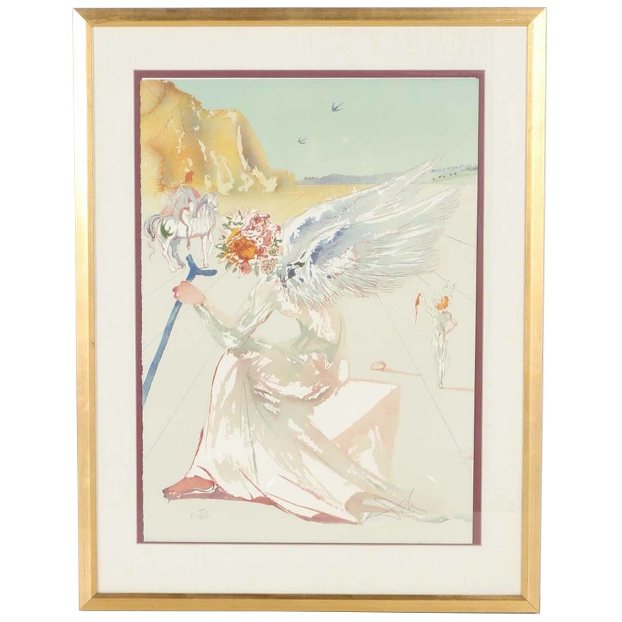 """Limited Edition Lithograph After Salvador Dalí """"Helen of Troy"""""""