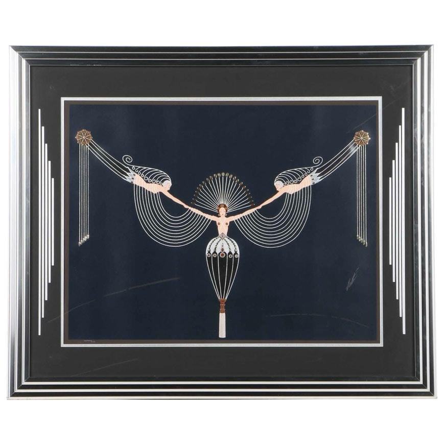 """1987 Erté Serigraph """"The Necklace"""""""