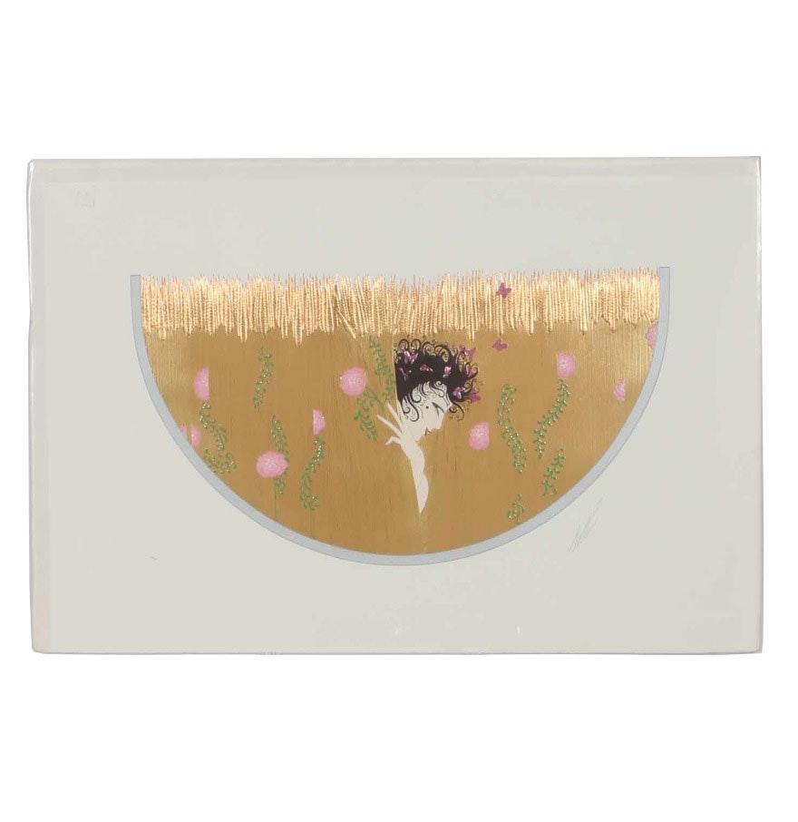 "1987 Erté ""Harvest"" Embossed Serigraph with Foil"